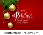 holidays greeting card for... | Shutterstock .eps vector #763091974