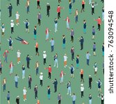 seamless tile of people crowd... | Shutterstock .eps vector #763094548