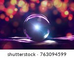 powerful magic sphere fortune... | Shutterstock . vector #763094599