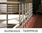 Shiny Chrome Metal Fencing And...