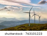 Landscape With Wind Turbines ...
