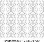 seamless pattern of triangles... | Shutterstock .eps vector #763101730