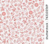 vector seamless background with ...   Shutterstock .eps vector #763103569