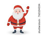 christmas santa claus icon on a ... | Shutterstock . vector #763104334