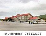 Small photo of Dutch Harbor, Unalaska, Alaska, USA - August 14th, 2017: The Grand Aleutian Hotel placed in Unalaska, Dutch Harbor, Alaska.