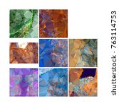 set of low poly mosaic...   Shutterstock .eps vector #763114753