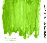 vector greenery watercolor... | Shutterstock .eps vector #763117399