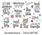 my universe love star moon... | Shutterstock .eps vector #763118740