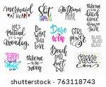 lettering photography overlay... | Shutterstock .eps vector #763118743