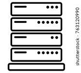 illustration of server icon on... | Shutterstock .eps vector #763120990