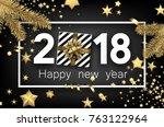 grey 2018 new year background...