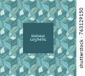 seamless leaves pattern.... | Shutterstock .eps vector #763129150