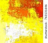 oil painting on canvas handmade.... | Shutterstock . vector #763131646