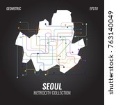 seoul metro map  city subway... | Shutterstock .eps vector #763140049