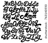 vector handwritten calligraphic ... | Shutterstock .eps vector #763140550