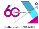 60th years anniversary logo ... | Shutterstock .eps vector #763147063