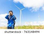 man photographer taking photo... | Shutterstock . vector #763148494