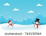 christmas greeting card with...   Shutterstock .eps vector #763150564