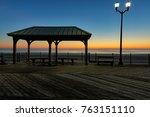 sunrise over seaside heights...   Shutterstock . vector #763151110
