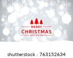christmas light vector... | Shutterstock .eps vector #763152634