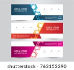 set of modern colorful banner... | Shutterstock .eps vector #763153390