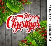 vector illustration of merry... | Shutterstock .eps vector #763154560