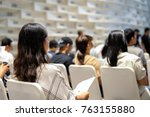 women wearing white shirt with... | Shutterstock . vector #763155880