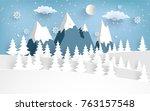 beautiful scenery in the winter ...   Shutterstock .eps vector #763157548
