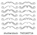 set of decorative elements.... | Shutterstock .eps vector #763160716