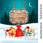 christmas holiday background... | Shutterstock .eps vector #763161514