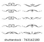 set of decorative elements.... | Shutterstock .eps vector #763162180