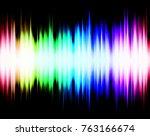 abstract rainbow audio spectrum ... | Shutterstock . vector #763166674