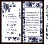 romantic invitation. wedding ... | Shutterstock .eps vector #763169929