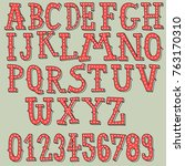 vintage font collection cartoon ... | Shutterstock .eps vector #763170310