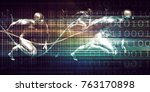 healthcare technology and... | Shutterstock . vector #763170898