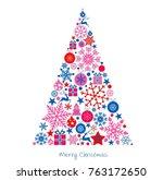 christmas tree  merry christmas ... | Shutterstock .eps vector #763172650