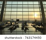 terminal waiting seats with... | Shutterstock . vector #763174450