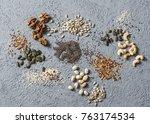 superfood ingredients.... | Shutterstock . vector #763174534