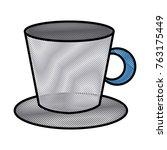 porcelain mug isolated   Shutterstock .eps vector #763175449