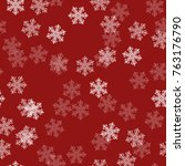 christmas snowflakes background.... | Shutterstock .eps vector #763176790