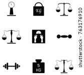 weight icon set | Shutterstock .eps vector #763176910