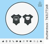 baby rompers icon   Shutterstock .eps vector #763177168