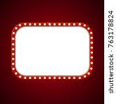retro light banner with shiny... | Shutterstock .eps vector #763178824