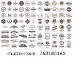 vintage retro vector logo for... | Shutterstock .eps vector #763185163