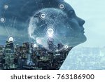 ai artificial intelligence ... | Shutterstock . vector #763186900