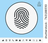 fingerprint. scanned finger icon | Shutterstock .eps vector #763188550