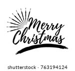 merry christmas card with... | Shutterstock .eps vector #763194124