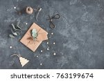 christmas composition.... | Shutterstock . vector #763199674