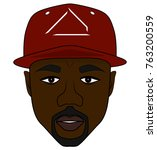 the rapper in a red cap | Shutterstock .eps vector #763200559