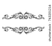 classical baroque vector of... | Shutterstock .eps vector #763201216